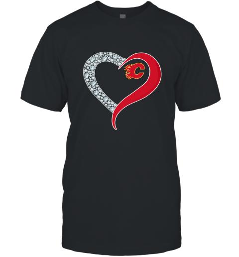 Diamond Calgary Flames Heart shirt T-Shirt