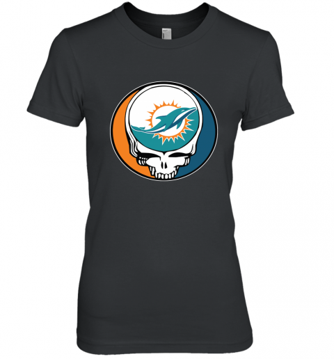 Miami Dolphins Grateful Dead Steal Your Face Football NFL Women's Premium T-Shirt
