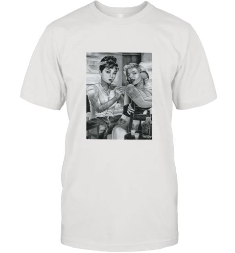 marilyn monroe and audrey hepburn tattoo T-Shirt