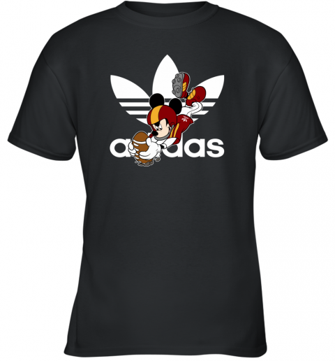 Adidas Logo  Rugby Mickey Mouse Disney Youth T-Shirt