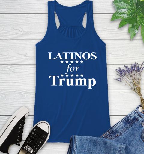 Latinos For Trump Racerback Tank 8
