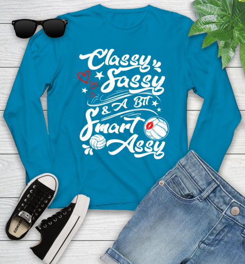 Volleyball Classy Sassy Youth Long Sleeve 8