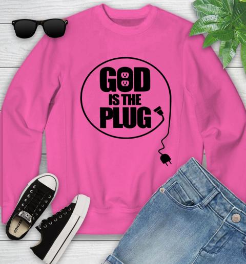 God is the plug Youth Sweatshirt 3