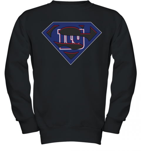 NFL New York Giants LOGO Superman Youth Sweatshirt