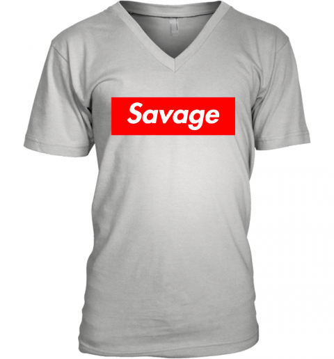 Savage in the box V-Neck T-Shirt