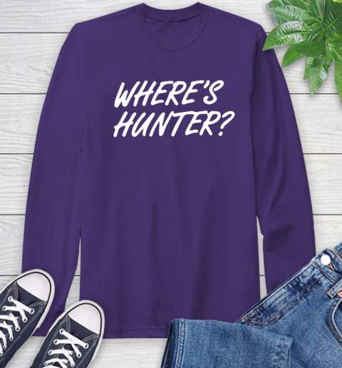 Where Is Hunter Long Sleeve T-Shirt 5