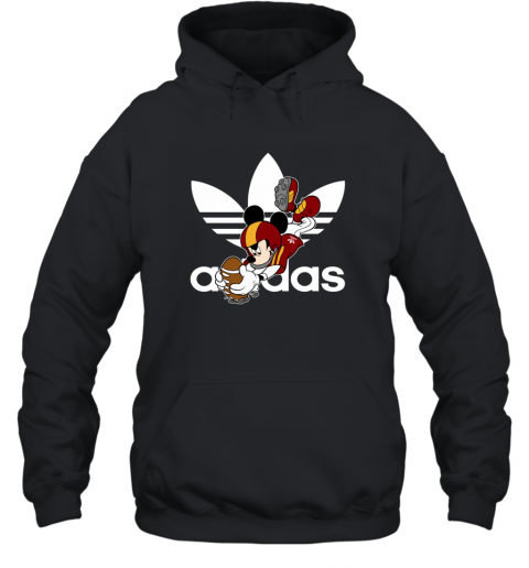 Adidas Logo  Rugby Mickey Mouse Disney Hoodie
