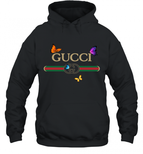 Gucci Logo Butterfly Printed Hoodie