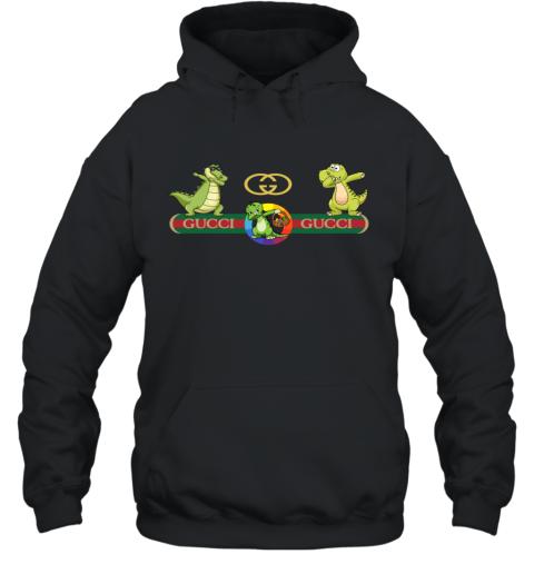 Gucci Logo Dinosaur Dabbing Dance Hoodie