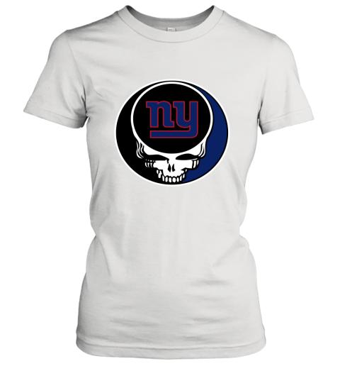 NFL New York Giants Grateful Dead Rock Band Football Sports Women's T-Shirt