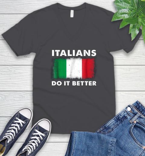 Italians Do It Better V-Neck T-Shirt 4