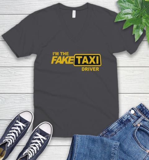 I am the Fake taxi driver V-Neck T-Shirt 5