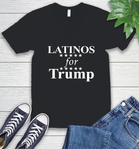 Latinos For Trump V-Neck T-Shirt
