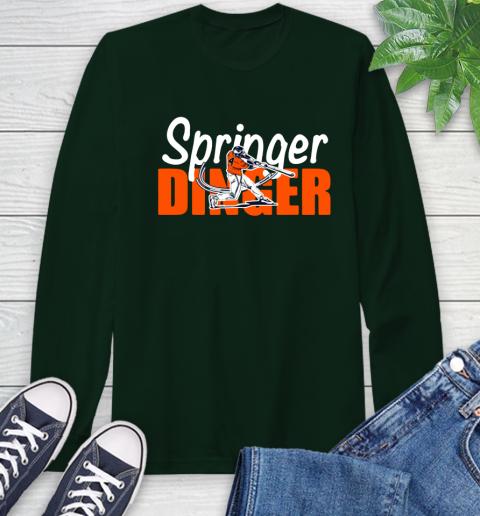 Houston Springer Dinger Fan Shirt Long Sleeve T-Shirt 7
