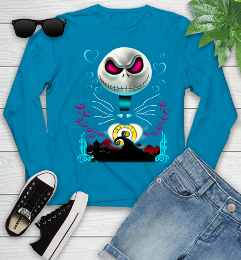 NBA Indiana Pacers Jack Skellington Sally The Nightmare Before Christmas Basketball Sports_000 Youth Long Sleeve 19