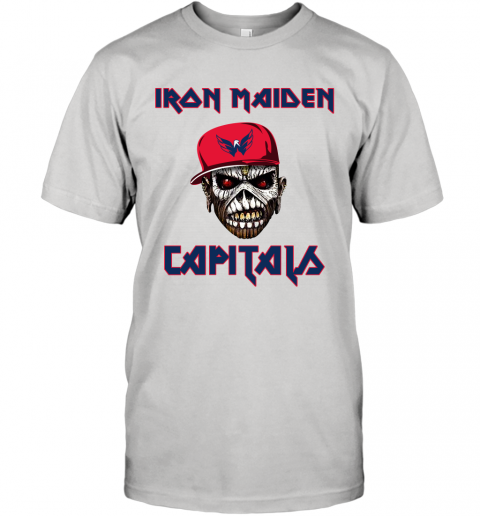 NHL Washington Capitals Iron Maiden Rock Band Music Hockey Sports T-Shirt