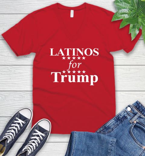 Latinos For Trump V-Neck T-Shirt 6