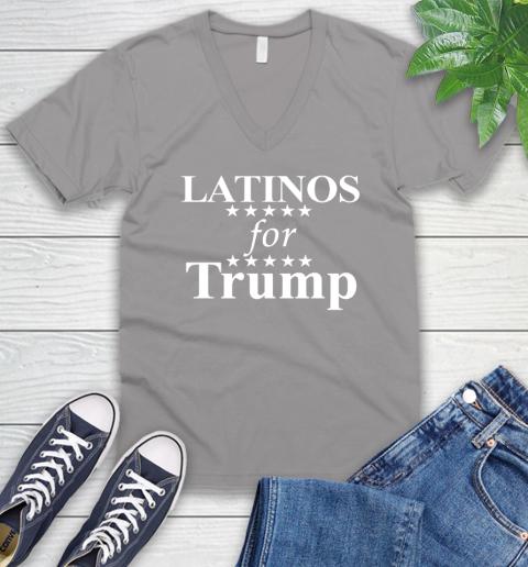 Latinos For Trump V-Neck T-Shirt 3