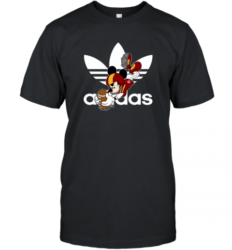 Adidas Logo  Rugby Mickey Mouse Disney T-Shirt