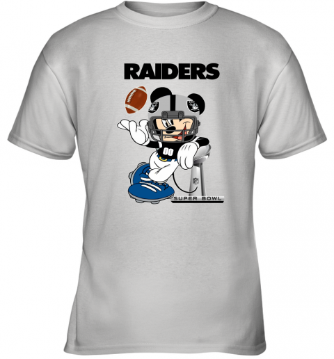 NFL Oakland Raiders Mickey Mouse Disney Super Bowl Football T Shirt Youth T-Shirt