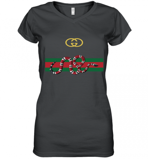 Gucci Snake Women's V-Neck T-Shirt