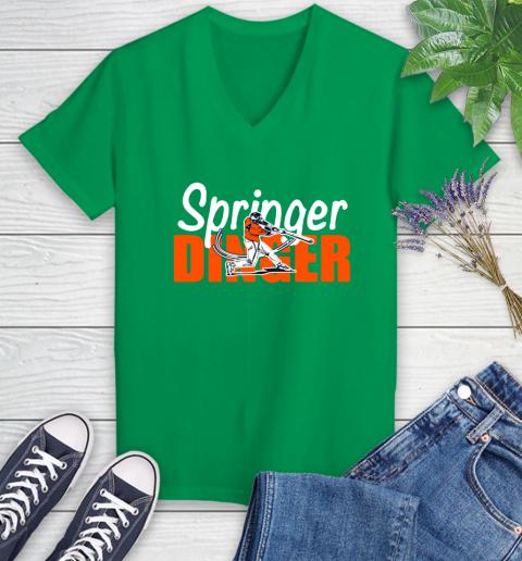 Houston Springer Dinger Fan Shirt Women's V-Neck T-Shirt 5