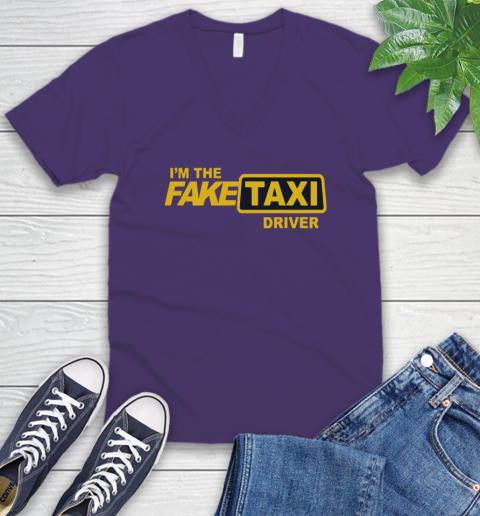 I am the Fake taxi driver V-Neck T-Shirt 10