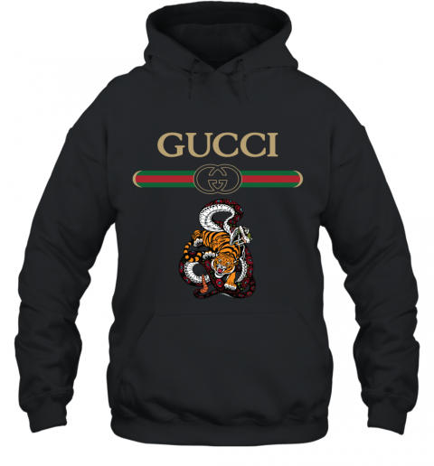 2020 Gucci Logo Fighting Snake Vs Tiger Hoodie