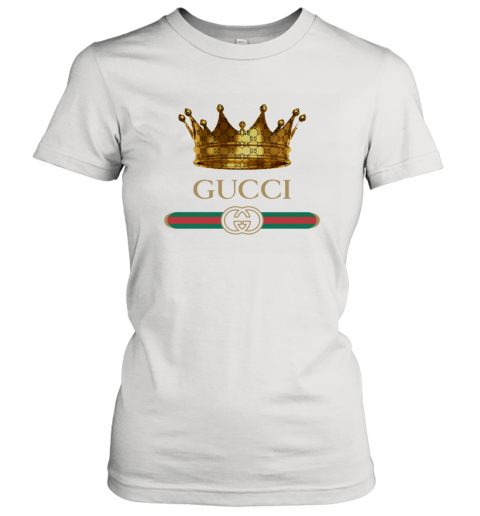 King Gold Gucci Logo Women's T-Shirt