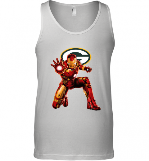 NFL Iron Man Marvel Avengers Endgame Football Sports Green Bay Packers Tank Top