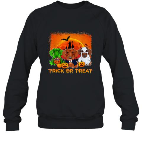 Halloween Dachshund trick or treat Shirt Dachshund Sweatshirt