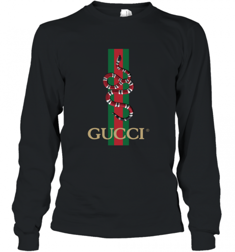 Gucci Logo Snake Polo Long Sleeve T-Shirt