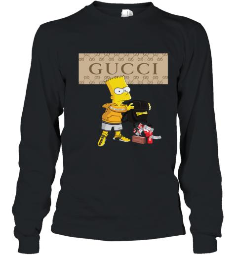 Gucci Bart Simpson Youth Long Sleeve T-Shirt