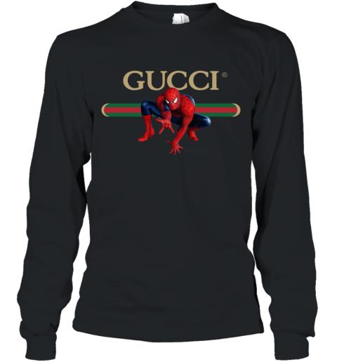 Gucci Logo Spiderman Long Sleeve T-Shirt