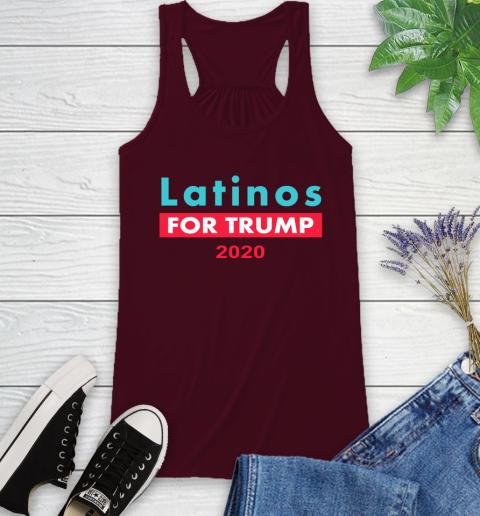 Latinos Trump 2020 Racerback Tank 3