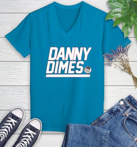 Danny Dimes Ny Giants Women's V-Neck T-Shirt 7
