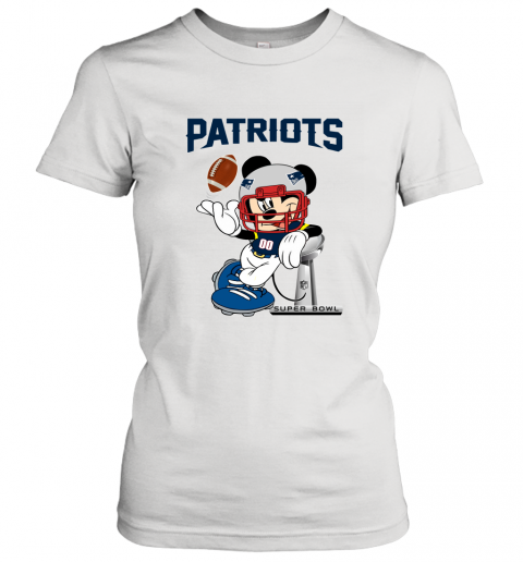 NFL New England Patriots Mickey Mouse Disney Super Bowl Football T Shirt Women's T-Shirt