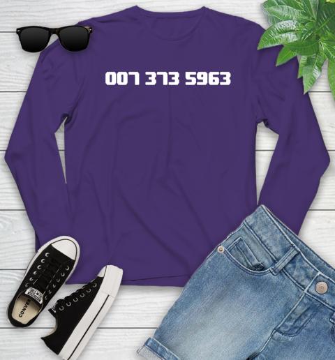 007 373 shirt Youth Long Sleeve 4