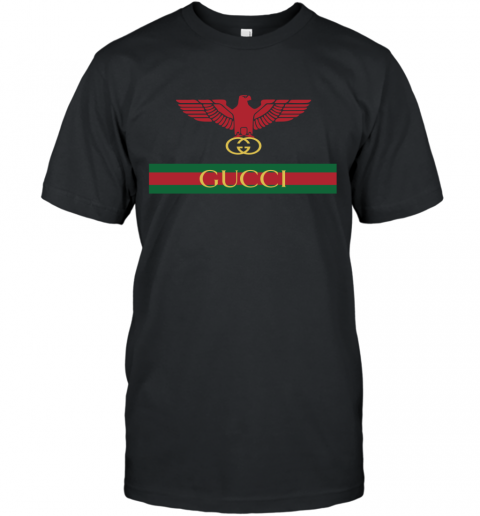 Gucci Menswear Logo Eagle Fire T-Shirt