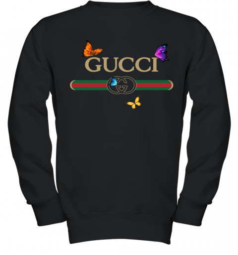 Gucci Logo Butterfly Printed Youth Sweatshirt