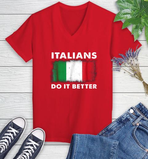 Italians Do It Better Women's V-Neck T-Shirt 11