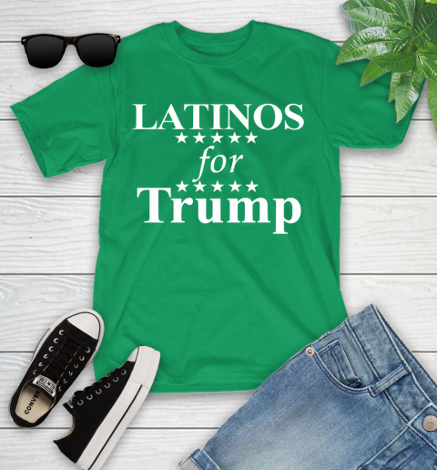 Latinos For Trump Youth T-Shirt 8