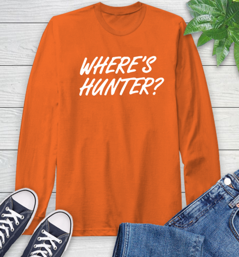 Where Is Hunter Long Sleeve T-Shirt 4