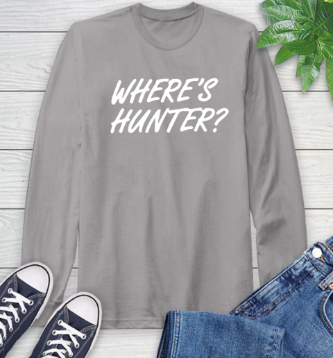 Where Is Hunter Long Sleeve T-Shirt 6