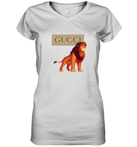 GUCCI LION KING Women's V-Neck T-Shirt