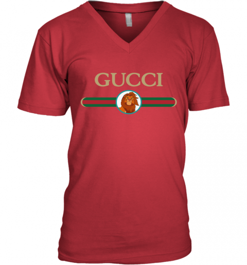 Lion King Simba Gucci V-Neck T-Shirt