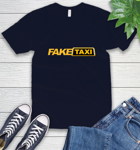 Fake taxi V-Neck T-Shirt 3