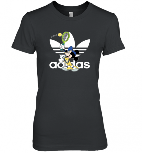 Adidas Logo Mickey Mouse Tennis Sports Women's T-Shirt
