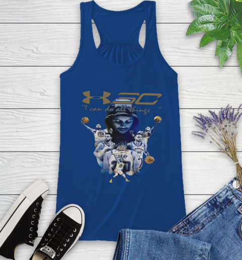 Stephen Curry I Can Do All Things Signature Racerback Tank 8