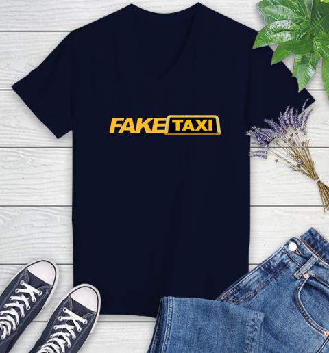 Fake taxi Women's V-Neck T-Shirt 3